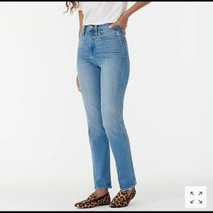 J Crew Stovepipe Meadow Wash High Rise Jean 25 NWT